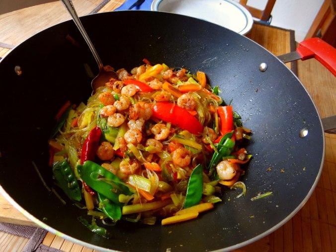 Asiatisches Gemüse mit Garnelen (4)