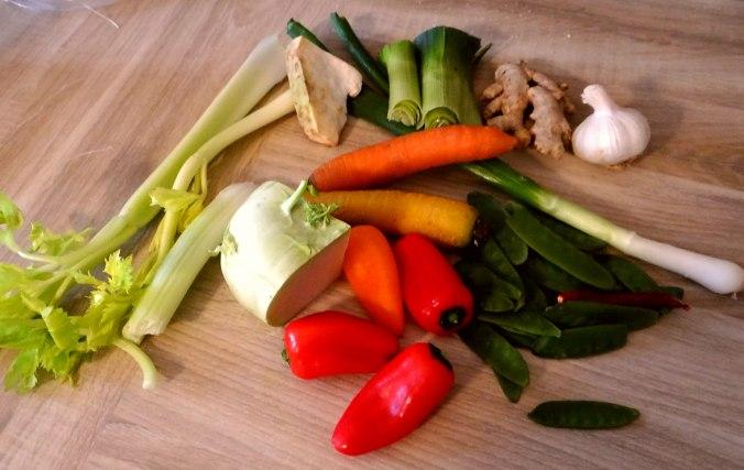 Asiatisches Gemüse mit Garnelen (5)