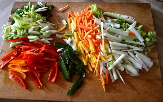 Asiatisches Gemüse mit Garnelen (8)