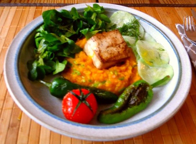 Kürbispüree,Tofu,Salate (13)