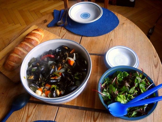 Muschel und Baguette (6)