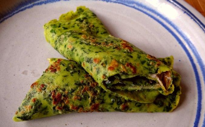 Spinatpfannkuchen,Ricottafüllung (13)