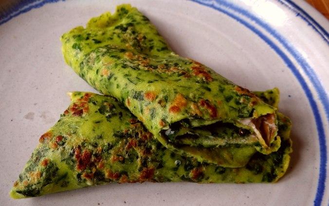 Spinatpfannkuchen,Ricottafüllung (2)