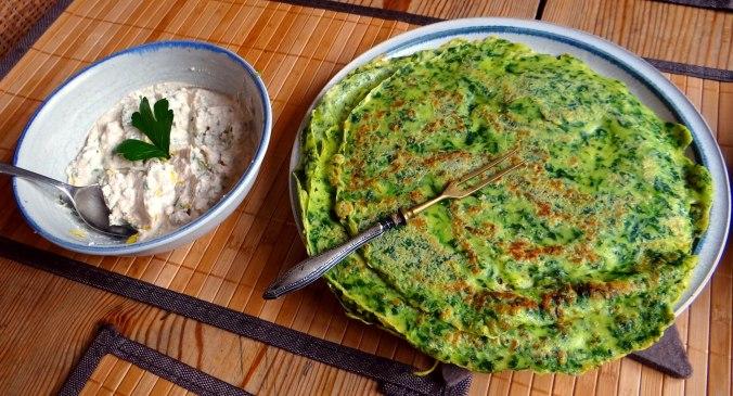 Spinatpfannkuchen,Ricottafüllung (3)