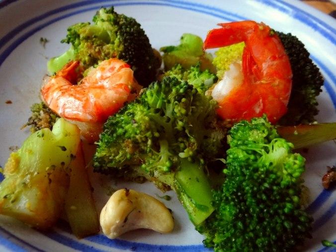 Brokkoli mit Riesengarnelen (2)