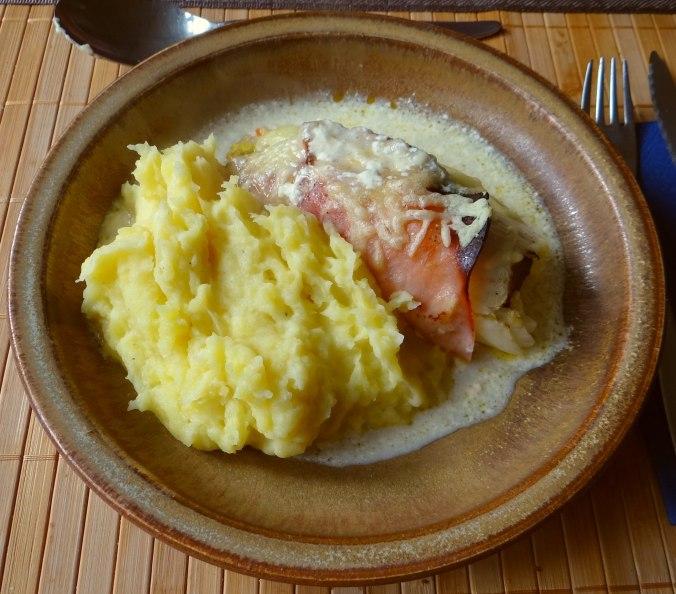 Chicoree mit Schinken und Kartoffelstampf (1)