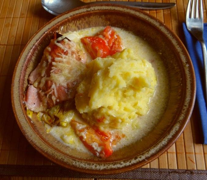 Chicoree mit Schinken und Kartoffelstampf (14)