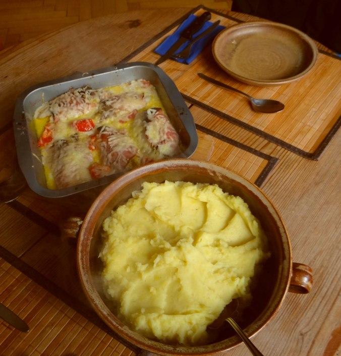 Chicoree mit Schinken und Kartoffelstampf (4)