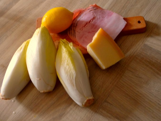Chicoree mit Schinken und Kartoffelstampf (5)