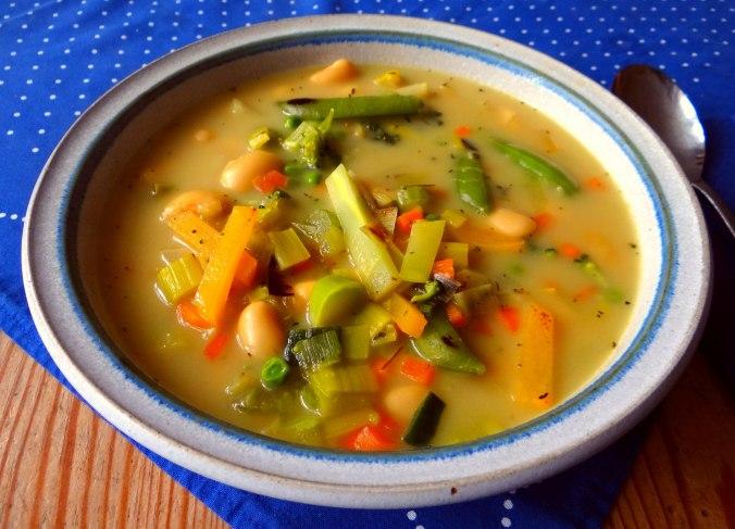 Gemüsesuppe mit weißen Bohnen (14)