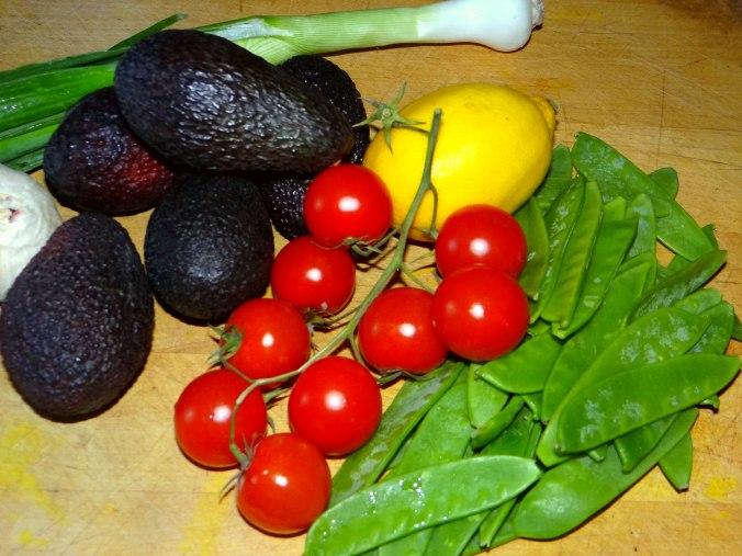 Kartoffel Taler,Guacamole,Gemüse (4)