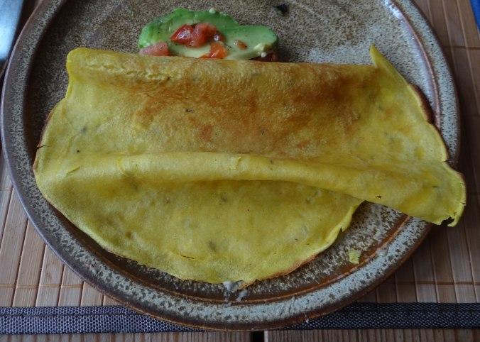 Kichererbsenmehl Pfannkuchen und Baba Ganoush (15)