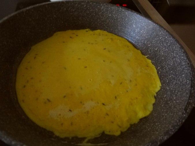 Kichererbsenmehl Pfannkuchen und Baba Ganoush (7)