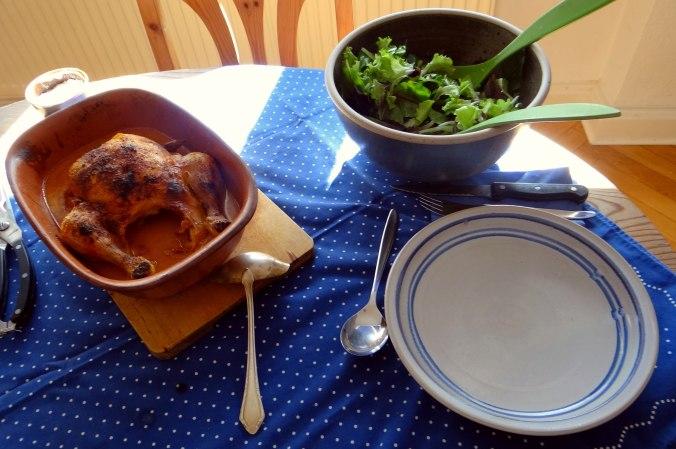 Mais Poularde,Salat,Birne in Rotwein (11)
