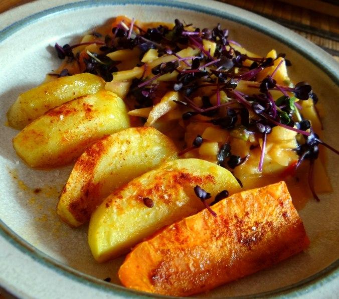 Pastinaken,Ofenkartoffeln,Obstsalat (15)
