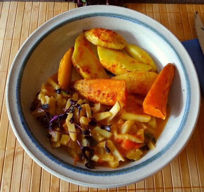 Pastinaken,Ofenkartoffeln,Obstsalat (2)