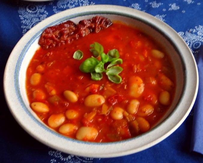 Bohnen-Tomatensuppe mit Bacon (14)