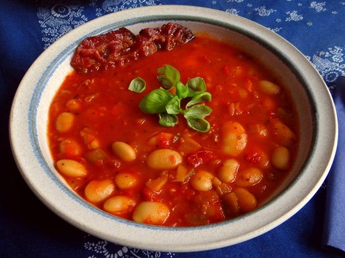 Bohnen-Tomatensuppe mit Bacon (2)