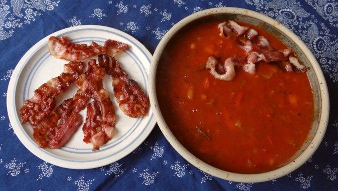 Bohnen-Tomatensuppe mit Bacon (3)