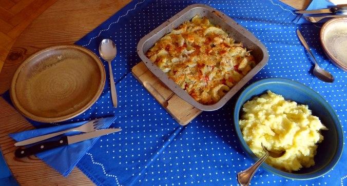 Fenchel Gratin und Kartoffelstampf (18)