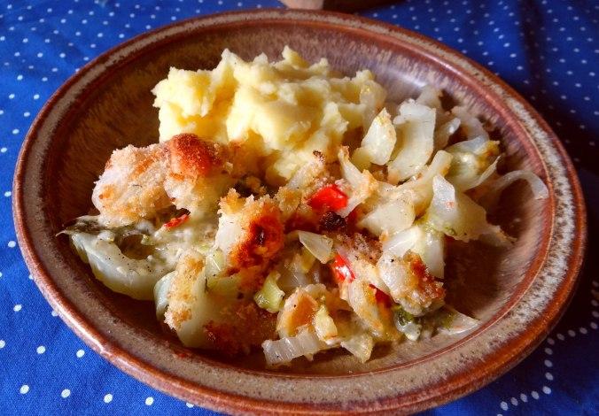 Fenchel Gratin und Kartoffelstampf (19)