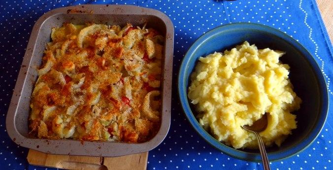 Fenchel Gratin und Kartoffelstampf (4)