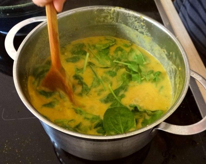 Gemüsesuppe püriert mit Spinat (1f (13)