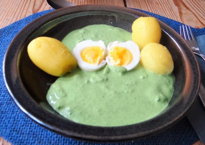 Grüne Soße mit Pellkartoffeln (13)