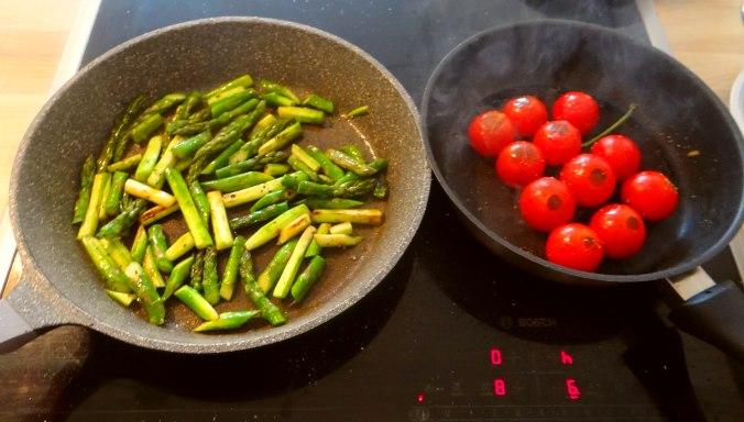 Grüner Spargel,Tomaten und Polenta (11)