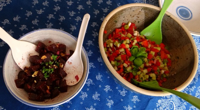 Israelischer Salat und Ofenkartoffeln (13)