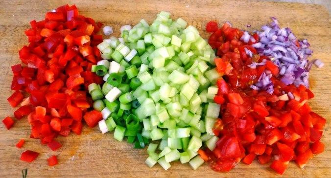 Israelischer Salat und Ofenkartoffeln (9)