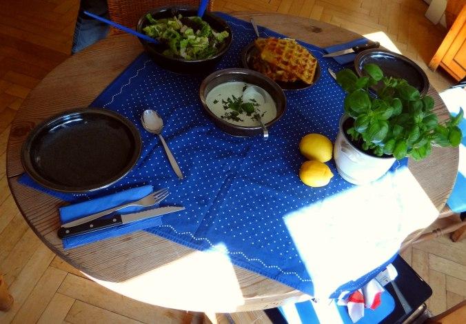 Käsewaffel mit zitronen Feta Creme (14)