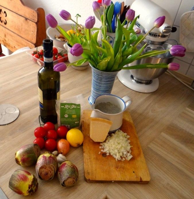 Zitronen Risotto und Artischocken (5)