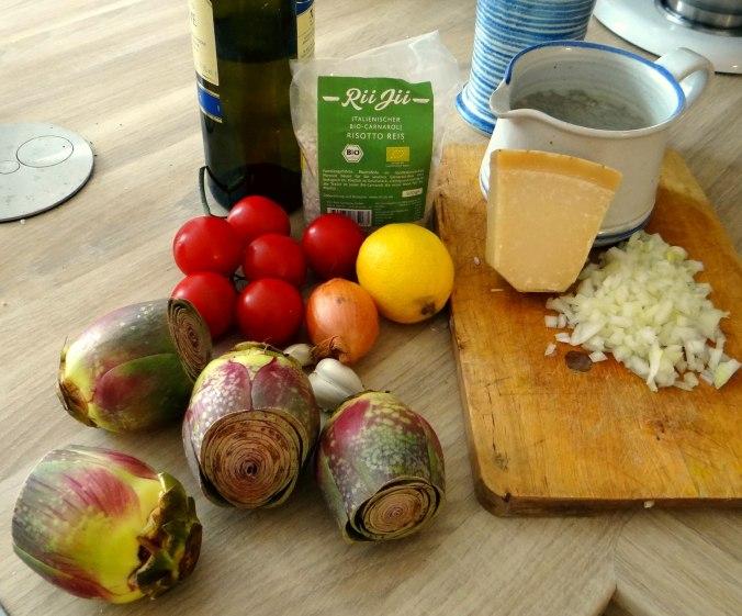 Zitronen Risotto und Artischocken (6)