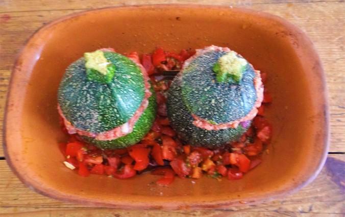 Gefüllte Zucchini,grüner Spargel,RiiJiiBasmati Reis (7)