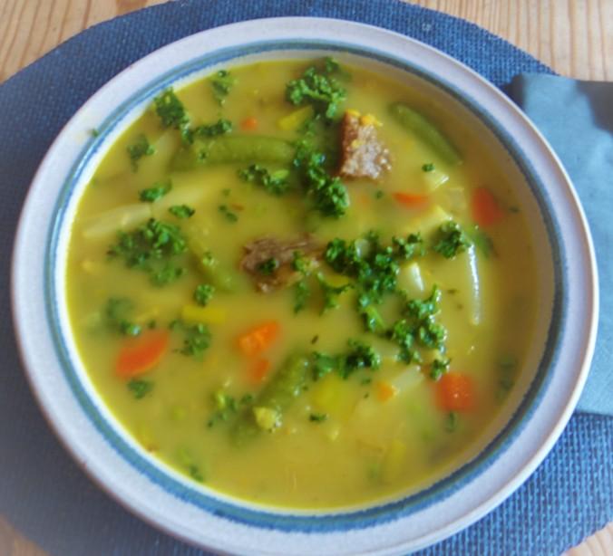Gemüsesuppe mit roten Linsen (12)