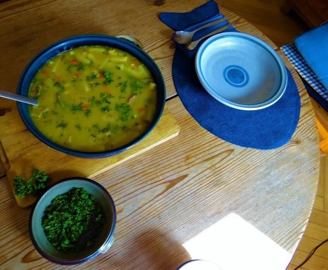 Gemüsesuppe mit roten Linsen (3)