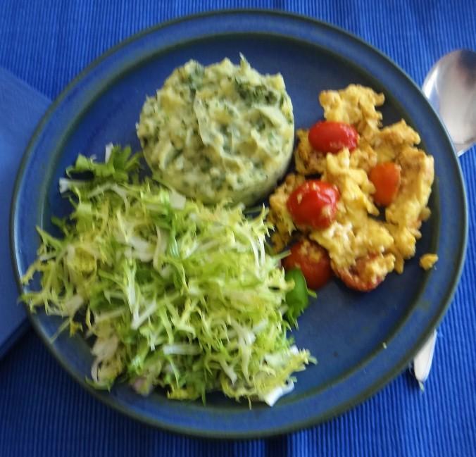 Kartoffelstampf mit Wildkräutern (1)