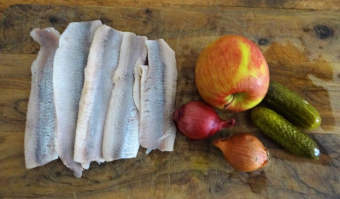 Marinierte Heringe,Salate,Pellkartoffeln (5)