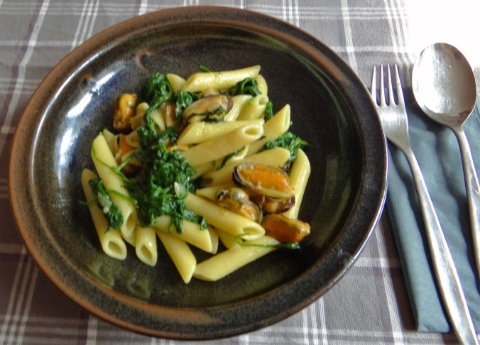 Nudeln,Spinat,Muscheln (1)