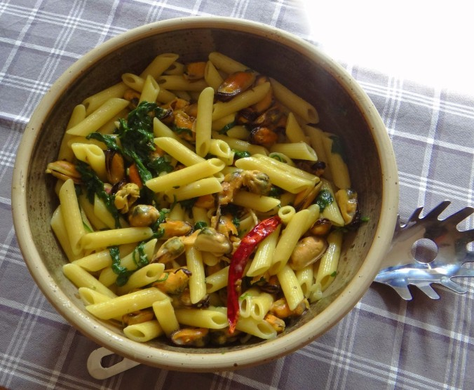 Nudeln,Spinat,Muscheln (2)